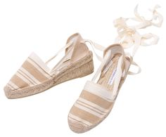 Ankle tie wedge Espadrille PRUDENCIA