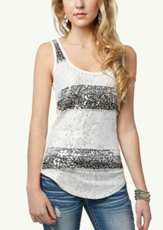 Sequined Lace Tank   Fashion   rue21