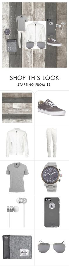"""""""Going out with friends"""" by lovesehunair on Polyvore featuring Vans, Kent & Curwen, Yves Saint Laurent, BasicGrey, Gucci, Beats by Dr. Dre, OtterBox, Herschel Supply Co., men's fashion and menswear"""