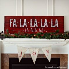 Celebrate your favorite Christmas carol by a displaying the lyrics atop your mantle.  See more at The Wood Connection »