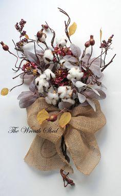 Burlap Cotton Bouquet, 2nd Anniversary Bouquet, Natural Cotton Bolls, Cotton Anniversary Gifts, Bridal Bouquets, Wedding Decor, Cotton Boll