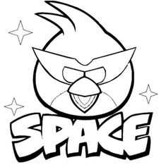 coloring page Angry Bird Space - space
