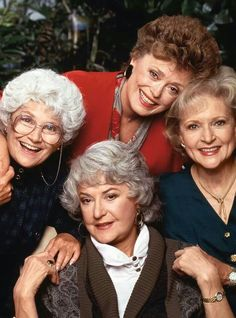 Rue McClanahan, Estelle Getty, Betty White, and Bea Arthur as Blanche Devereaux, Sophia Petrillo, Rose Nylund, and Dorothy Petrillo Zbornak