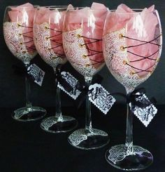 Hand Painted Wine Glass Party wedding birthday by AlenaShop, $32.00 Personalized…