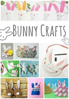 20+ Delightful Bunny Crafts - oh how do love those fluffly little bunnies! So many great rabbit crafts here to choose from.