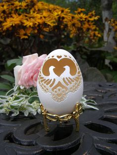 Unique Wedding Gift for couple Newlywed gift Bridal shower Wedding day gift Decorated Goose Egg Shell Carved Egg Shell Wedding Gifts For Couples, Unique Wedding Gifts, Unique Weddings, Egg Crafts, Easter Crafts, Bridal Shower Gifts, Bridal Gifts, Egg Shell Art, Carved Eggs