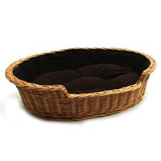 Prestige Wicker Dog Bed Basket, Large, Dark: Amazon.co.uk: Pet Supplies