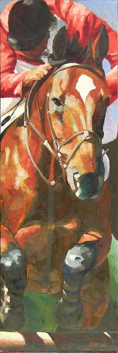 Jumper Painting by Mary McInnis - Jumper Fine Art Prints and Posters for Sale