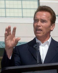 The governator Mr. Arnold Schwartzenegger . I wonder what he is saying in this pic MelanysGuydlines.com