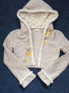Anthropologie Sleeping on Snow Cozy Cropped Flowered Sweater Cardigan Size XS   eBay