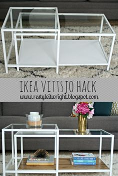 ikea, vittsjo, hack, nesting table, wood, stain, coffee table