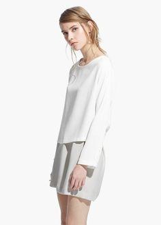 MANGO - Flowy textured blouse #SS15