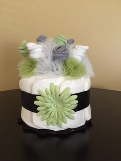 Sock Bouquet Mini Diaper Cake Sock Roses di JustBabyBoutique