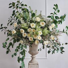 Home - David Austin Luxury Cut Roses White Wedding Bouquets, Rose Wedding, Green Wedding, Wedding Flowers, Floral Centerpieces, Wedding Centerpieces, Floral Arrangements, David Austin Roses Bouquet, 2017 Wedding Trends