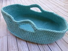 Knitting Pattern For Dolls Moses Basket : PDF Pattern - Crocheted Doll Moses Basket Moses basket ...
