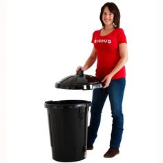 80 Litre Dustbin Recycling Storage, Storage Boxes, Storage Ideas, Outside Storage, Workshop Storage, Storage Solutions, Black, Commercial, Plastic