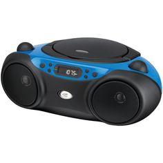 GPX(R) BC232BU Sporty CD & Radio Boom Box (Blue)