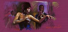 african american jazz violinist art images | Jazz Song 01 by Yuriy Shevchuk