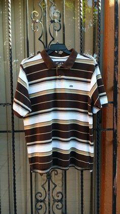 Men's designer ECKO LOGO brown horizontal striped polo shirt size 3XL urban wear in Clothing, Shoes & Accessories, Men's Clothing, Casual Shirts   eBay