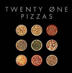 Pete Wentz's new favourite band!<<< I've pinned this before, but I'm pinning again for that comment! <<< but there are only nine pizzas.....