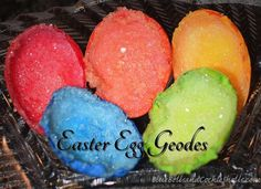 Easter Egg Geodes | From Blue Bells and Cockle Shells