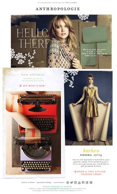 Anthropologie Welcome Email SL: A warm welcome from us to you. (12/12/2013)