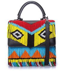 Les Petits Joueurs Mini Alex Fringed Tote Bag ($1,279) ❤ liked on Polyvore featuring bags, handbags, tote bags, leather hand bags, leather purses, genuine leather tote, leather tote bags and mini tote