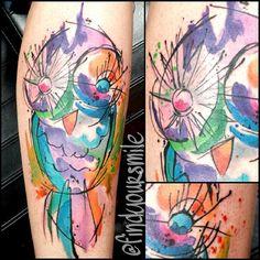 watercolor tattoo Based off the amazing @ondrashtattoo Possible best fran tattoo?!?! @Michelle Flynn Stewart