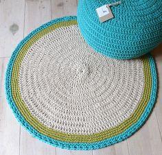 Round Rug floor crochet von lacasadecoto auf Etsy