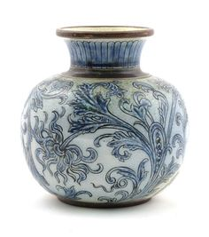 Martin Brothers Pottery Stoneware Vase by Robert Wallace Martin
