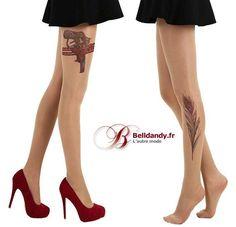 Révolver ou Plume de Paon ?  Découvrez nos nouveaux modèles de collants effet tattoo
