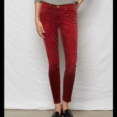 NWT current Elliot deep red cords Never worn current Elliot skinny cords. Deep red size 25 which would fit a 0-2 quite nicely. No flaws! Current/Elliott Pants Skinny