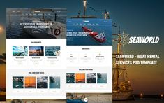 Seaworld - Boat Rental Services PSD Template