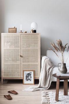 Modern furniture + light wood and caned door fronts #furniture #homedecor