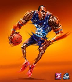 new style 3b6ec 642c2 Dwight Howard All Star Game Basketball Art, Nba Stars, Sports Art, Black Art