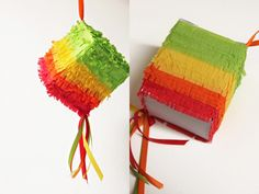 mini pinata made from a tissue box