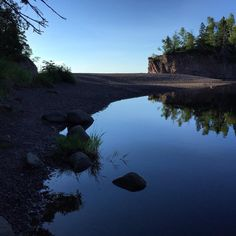 Good morning from the North Shore of Lake Superior, just up the shore from Duluth and Frost River.