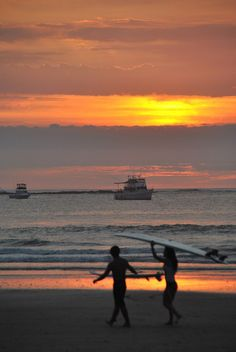 Sunset... Surf in Tamarindo, Costa Rica...  http://www.peaceretreat.ca/