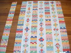 could use up a lot of small fabric pieces using this type of pattern. Lizzie the quilter: Long weekend of sewing could use up a lot of small fabric pieces using this type of pattern. Lizzie the quilter: Long weekend of sewing Jellyroll Quilts, Scrappy Quilts, Patchwork Quilting, Easy Quilts, Amish Quilts, Quilting Tutorials, Quilting Projects, Quilting Designs, Sewing Projects