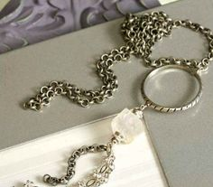 Long Quartz Necklace Published in Bead by TheJewelryByAndrea, $45.00