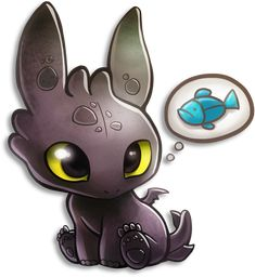 Tiny Toothless by TsaoShin.deviantart.com on @deviantART