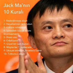 Jack Ma'dan başarının 10 kuralı #alibaba #success #başarı #motivasyon