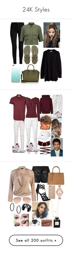 """""""24K Styles"""" by karressguidycapers ❤ liked on Polyvore featuring Equipment, Havaianas, Givenchy, Madewell, Neil Barrett, Frame, Topman, NIKE, Charlotte Russe and Chanel"""