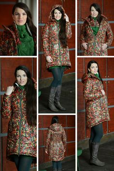 A colorful Russian-style winter coat for pregnancy and babywearing. Interested? Send a mail to info@fantinos.ru