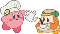 Kirby and Waddle Dee - Kirby Cafe
