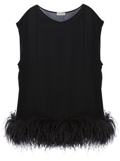 Yes--feather fringed tunic Chic Black Outfits, Fall Outfits, Fashion Outfits, Womens Fashion, Fashion Details, Timeless Fashion, Fashion Design, Office Fashion, Classy And Fabulous