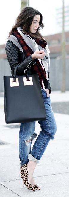 Black Leather Tall Tote by Come Over To The Dark Side We Have Candy
