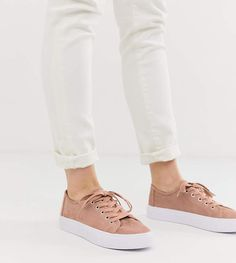 Buy ASOS DESIGN Dusty lace up trainers in warm beige at ASOS. With free delivery and return options (Ts&Cs apply), online shopping has never been so easy. Get the latest trends with ASOS now. Asos, Safari, Black Chuck Taylors, Black Chucks, Pointed Ballet Flats, J Shoes, Shoes Sandals, Tie Heels, Neutral