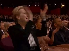 Trending GIF excited yes meryl streep jennifer lopez yas pointing jlo oscars 2015 yas queen