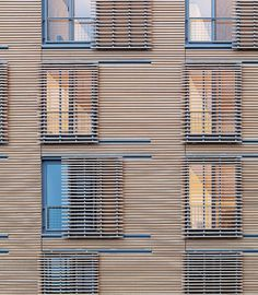Exterior shading shutters - the best place to stop the sun - on the outside of the building!  Housing Tower at Kripalu Center | Stockbridge, Mass. | Peter Rose + Partners
